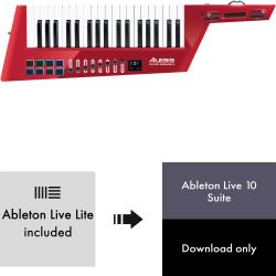 Alesis Vortex Wireless 2 Keytar red ltd. + Ableton Live 10 Suite
