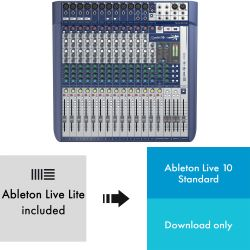 Soundcraft Signature 16 + Ableton Live 10