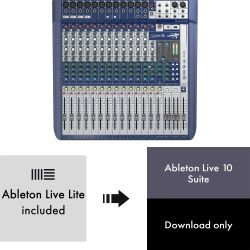 Soundcraft Signature 16 + Ableton Live 10 Suite