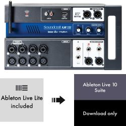 Soundcraft Ui12 + Ableton Live 10 Suite