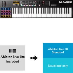 M-Audio Code 61 Black + Ableton Live 10
