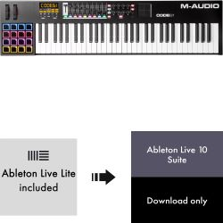 M-Audio Code 61 Black + Ableton Live 10 Suite