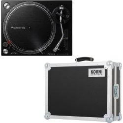 Pioneer PLX-500 K Schwarz Turntable + Case