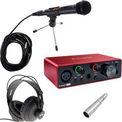 Focusrite Scarlett Solo 3rd Gen Podcast Set
