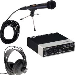 Steinberg UR22 MKII USB AI +  MIDI I/O + iPad Support Podcast Set