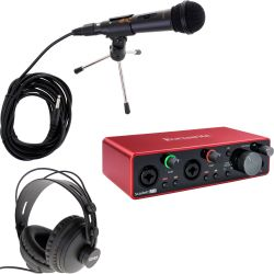 Focusrite Scarlett 2i2 3rd Gen Podcast Set