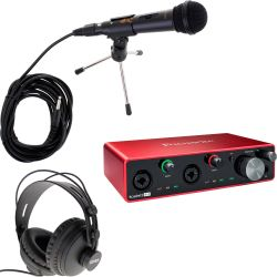 Focusrite Scarlett 4i4 3rd Gen Podcast Set