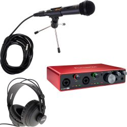 Focusrite Scarlett 8i6 3rd Gen Podcast Set