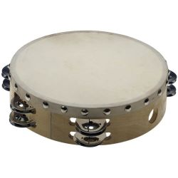 STAGG Holz-Tambourin 8 Zoll 2 reihig mit Fell