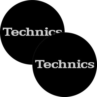 Slipmat Technics Simple 2 black - silver Logo