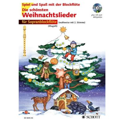 Die Schönsten Weihnachtslieder Texte.Schott Die Schönsten Weihnachtslieder F Blockflöte Mit Cd