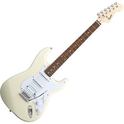 Fender Squier Bullet Strat Tremolo HSS IL Arctic White E-Gitarre