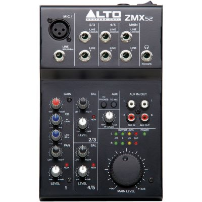 Alto zephyr zmx 52 for Table de mixage zmx 52
