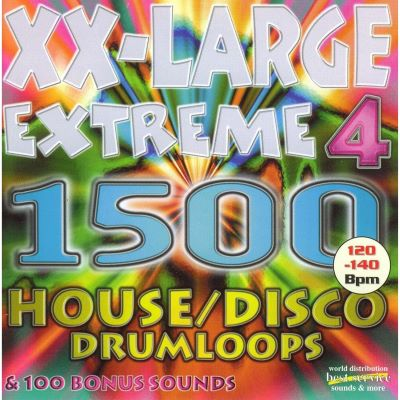 Best Service XXL Extreme 4 House / Disco Drumloops (Audio-CD)