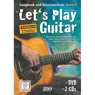 Hage - Let's Play Guitar Band 2 mit DVD u. 2 Audio-CDs