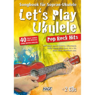 Hage - Let's Play Ukulele Pop Rock Hits (mit 2 CDs)
