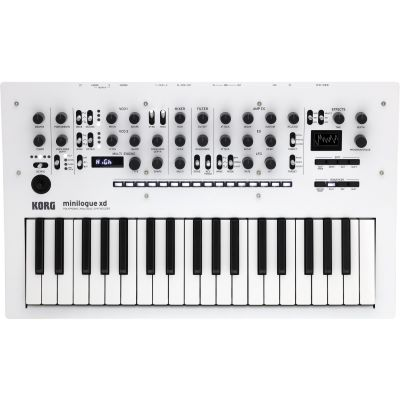 Korg minilogue xd PW Pearl White Analoger Synthesizer