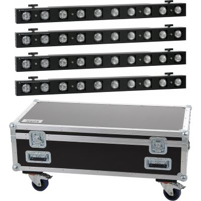 Vermietung - 4er Set Showtec Sunstrip Active MKII - Stk./Tag