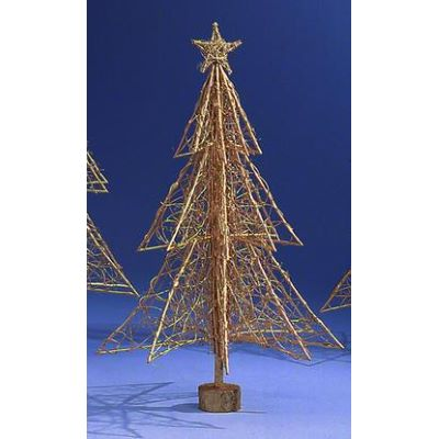 Weihnachtsbaum Rattan.Rattan Weihnachtsbaum Gold 100cm Musikhaus