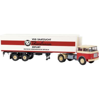 71803 LIAZ 706 Kühlkoffer-Sattelzug VEG SaatzuchtBrekinaH0Neu