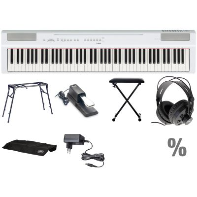 yamaha p 125 w digital e piano klavier t set musikhaus. Black Bedroom Furniture Sets. Home Design Ideas