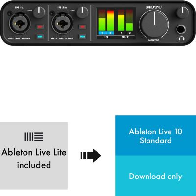 MOTU M2 USB Audio Interface + Ableton Live 10 - Lizenz Code