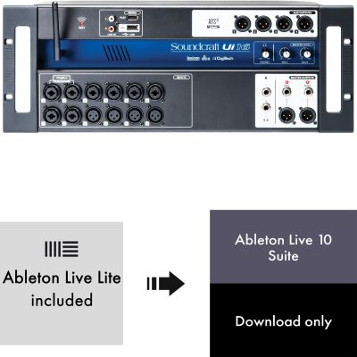 Soundcraft Ui16 + Ableton Live 10 Suite