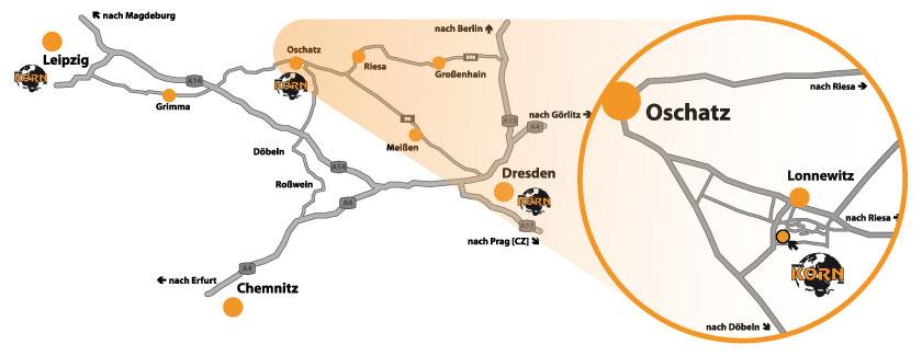 Lageplan Musikhaus Korn